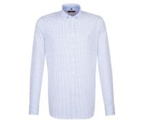 City-Hemd ' Slim ' blau / weiß