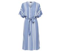 Kleid 'slfvienna' weiß / taubenblau