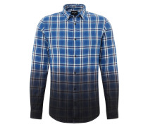 Hemd 'kirk' blau / schwarz / weiß
