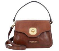Handtasche 'Hornby' Leder 23 cm braun