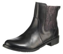 Chelsea Boots rotviolett / schwarz