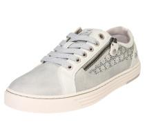 Sneaker mit Strass grau / silber