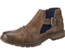 Chelsea Boots navy / braun