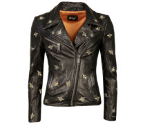 Biker-Jacke mit Stickereien 'Blackridge'