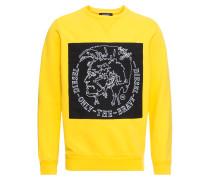 Sweatshirt 's-Samuel' gelb / schwarz