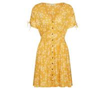 Kleid 'twirl Twist' gelb / weiß