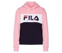 Sweatshirt 'Lori' rosa / schwarz / weiß