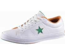 Sneaker 'one Star' grün / orange / weiß