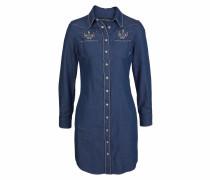 Kleid blue denim / schwarz / weiß