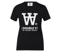 T-Shirt 'uma' schwarz / weiß
