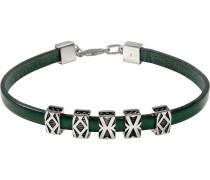 Armband dunkelgrün / silber