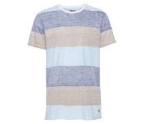 T-Shirt 'Nishan' beige / blau
