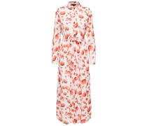 Kleid lachs / weiß