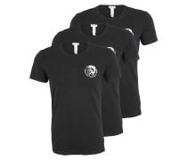 T-Shirt 'Randal' im 3er-Pack schwarz / weiß