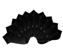 Füßlinge (10 Paar) schwarz