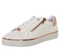 Sneaker mit Reißverschluss gold / weiß