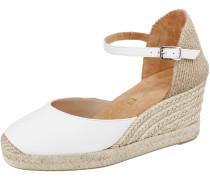 Sandalette hellbeige / weiß