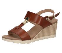 Sandaletten hellbeige / braun / weiß