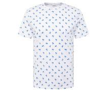 T-Shirt 'pineapple' blau / weiß