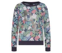 Sweatshirt nachtblau / grasgrün / silber