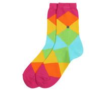Socken 'Bonnie' gelb / grün / pink