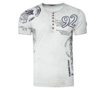 T-Shirt mit Knopfleiste grau