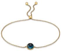 Armband blau / gold