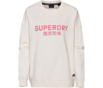 Sweatshirt 'Freya Crew' pink / naturweiß