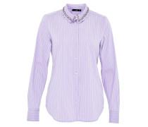 Hemdbluse lavendel / weiß