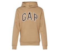 Sweatshirt 'arch PO HD' beige