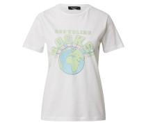 T-Shirt 'puki-Ss' grün / weiß