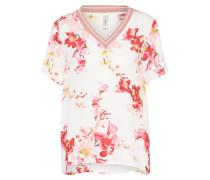 T-Shirt 'lamija' rosa / naturweiß