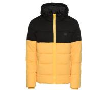 Steppjacke gelb / schwarz