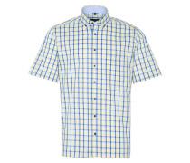 Kurzarm Hemd Comfort FIT blau / gelb / weiß