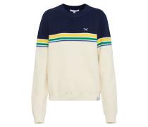 Pullover 'Fanny Knit' navy / gelb / weiß