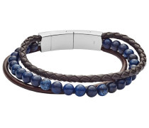 Armband 'jf02885040' blau / braun / silber