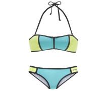 Bandeau–Bikini türkis / grün