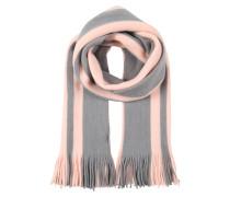 Schal mit Streifenmuster grau / rosa
