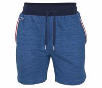 Shorts in Melange Optik blaumeliert