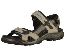 Sandale mit Klettverschluss grau