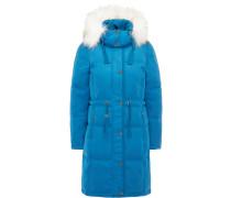 Mantel blau / weiß