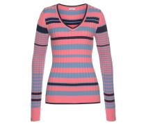 Pullover mischfarben / koralle