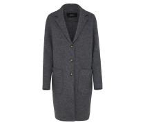 Mantel aus Schurwolle dunkelgrau