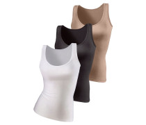 Unterhemd nude / schwarz / weiß