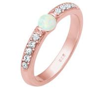 Verlobungsring rosegold / perlweiß