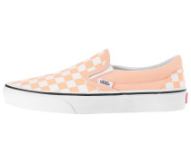 Slip Ons 'Classic' apricot / weiß