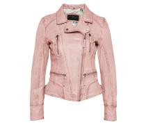 Biker-Lederjacke rosa