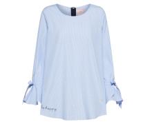 Bluse 'Emila' blau / weiß