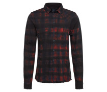 Hemd schwarz / rot
