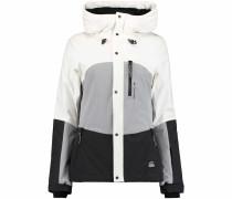Jacke 'PW Coral' grau / schwarz / weiß
